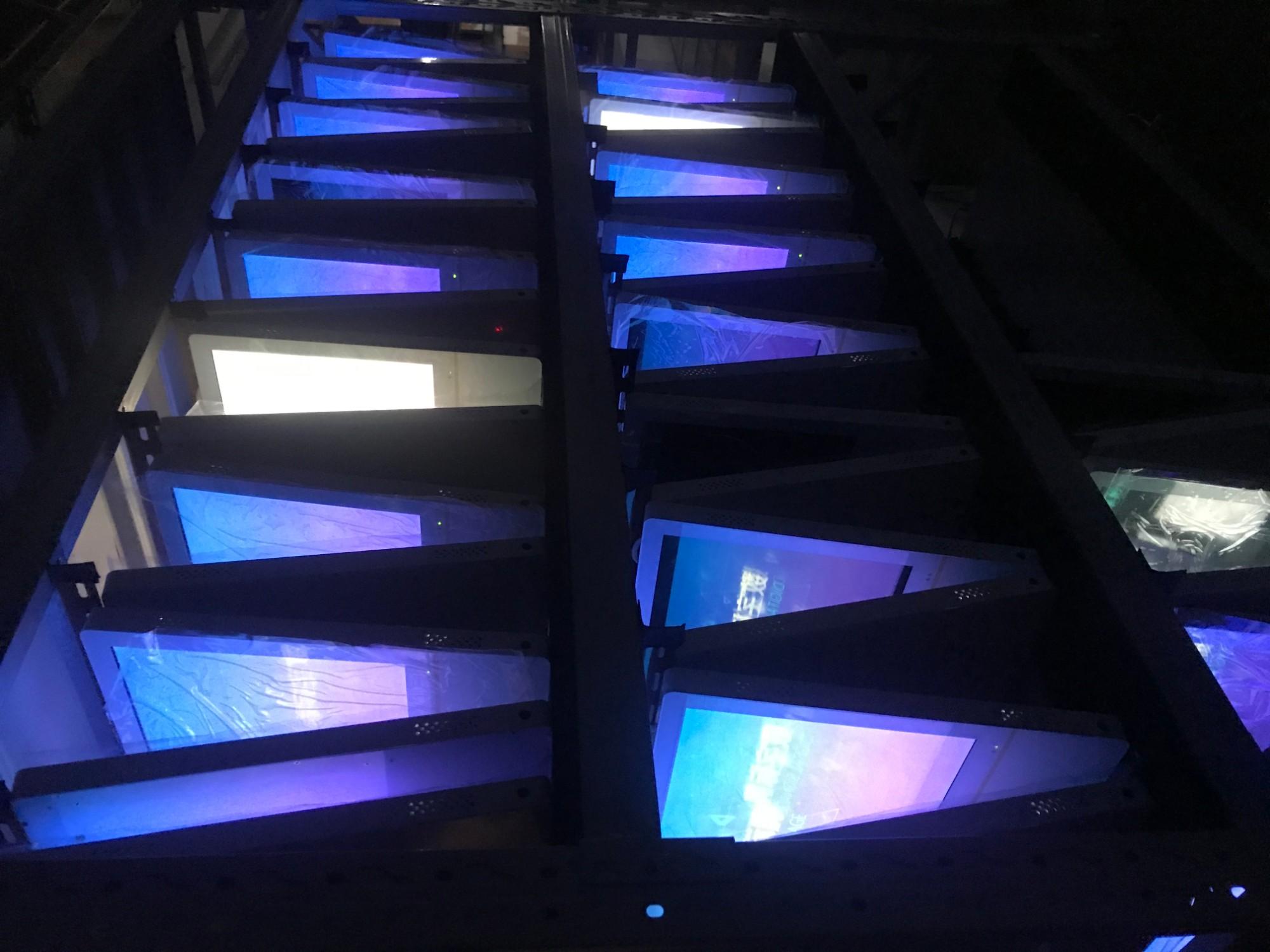 河北沧州电梯广告机项目