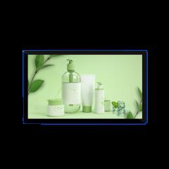 容仁热推新款21.5寸壁挂广告机超薄2.5d手机同款玻璃外观